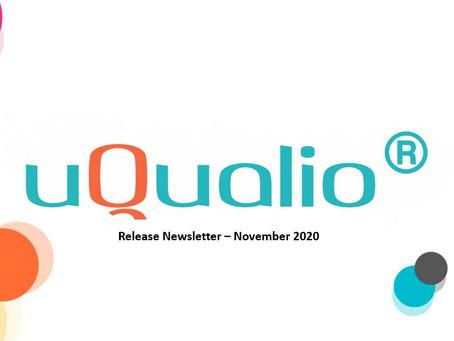 uQualio® Release Newsletter, November 2020