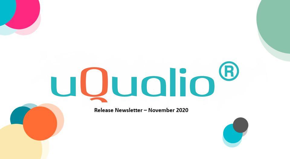 uQualio product news updates november 2020