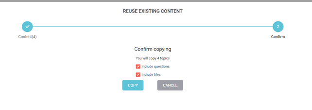 Reuse content video eLearning - Multi select
