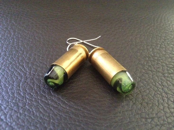 .40 Caliber Earring Slyme/Black