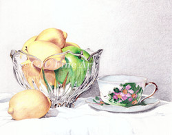 Fruit and Teacup