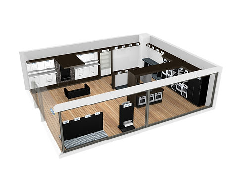 Floor plan - 3d render retail plan