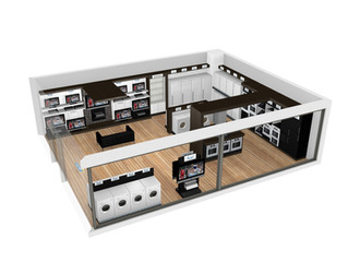 Store interior layout