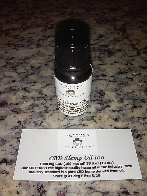 Ingestible CBD Hemp Oil 1000mg Bottle