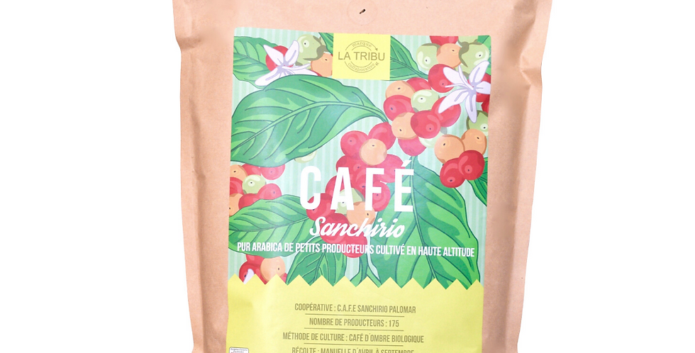 Café Sanchirio Pérou Grains 1kg Équitable & Bio