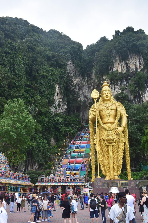 Batu Caves met zijn vele toeristen