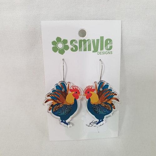 Smyle Designs - Rooster Earrings