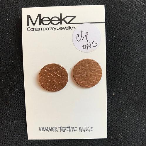 Meekz Jewellery- Copper Clip-on Earrings