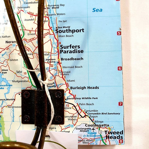 Junk to Funk: QLD Coastline Map Coat Hook