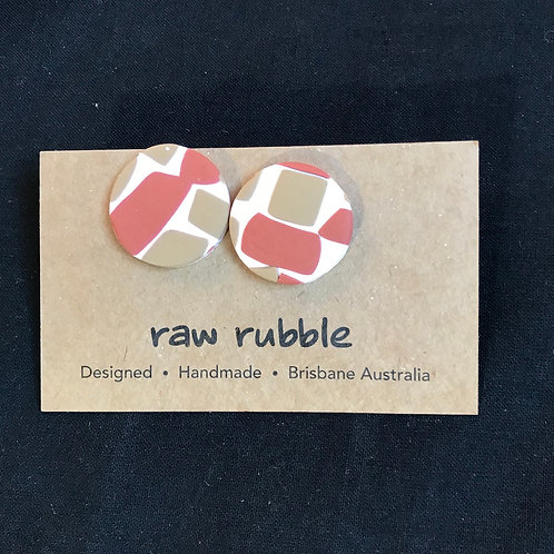 Raw Rubble Stud Earrings