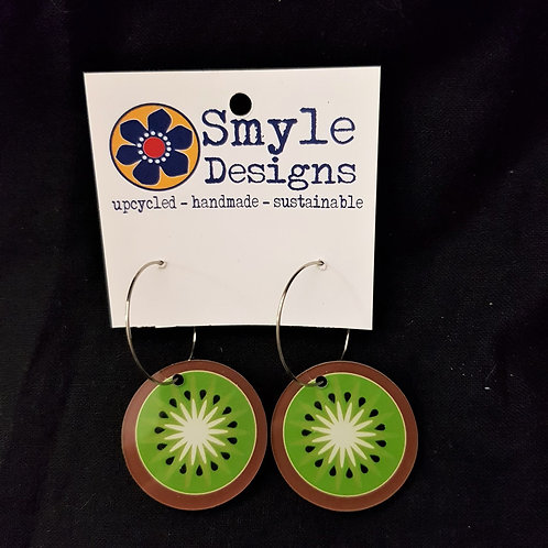 Smyle Designs - Kiwi Fruit Hoop Earrings