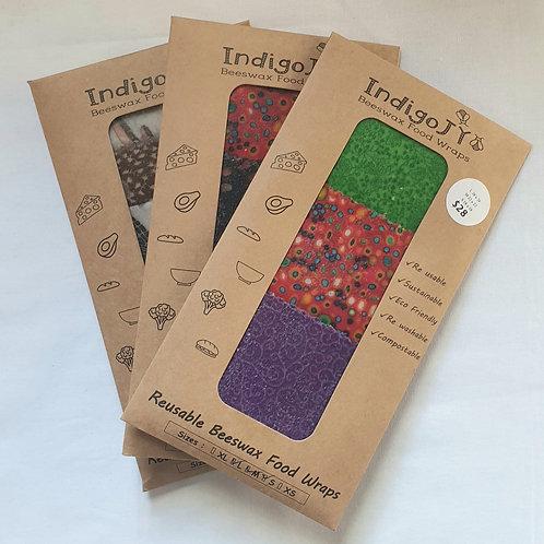 Indigo JY Beeswax Food Wraps