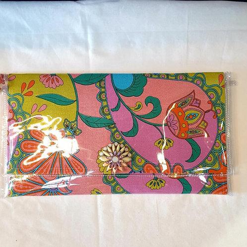 Vintage Design Clutch - Pink Floral
