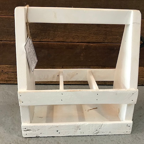 Timber Beer Caddy - White