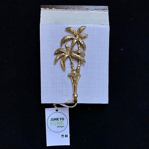 Junk to Funk 1 Hook Coat Hanger - Gold Palm