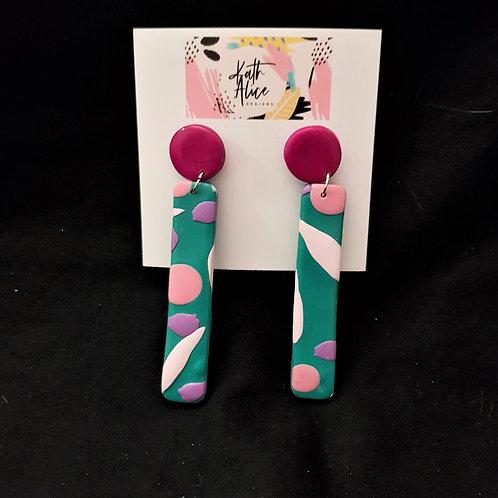 Kath Alice Designs - Green Drop Earrings