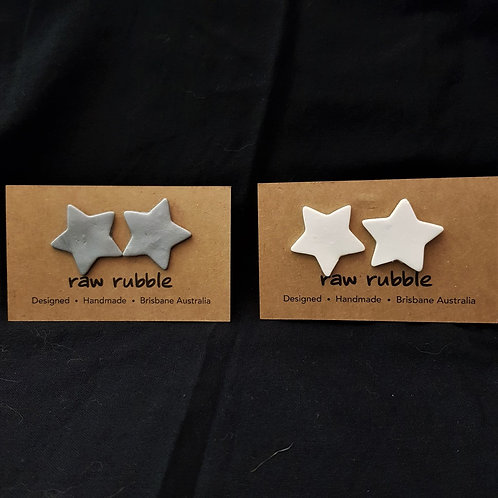 Raw Rubble - Large Star Stud Earrings