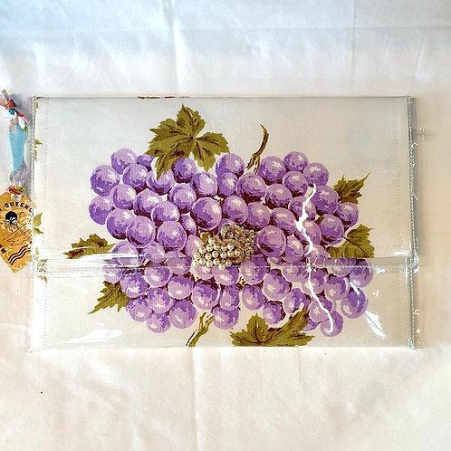 Vintage Design Clutch - Purple Grapes