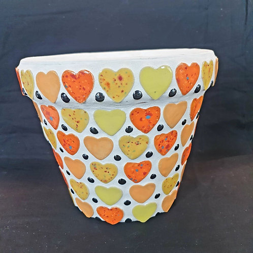 Handmade Ceramic Heart Pot
