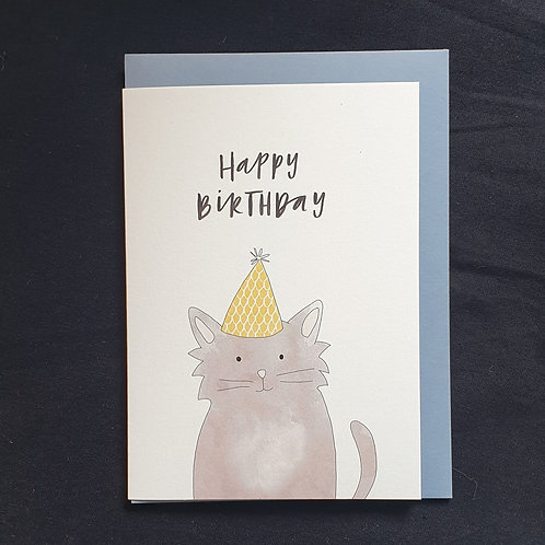 In the Daylight Greeting Card - Birthday Cat