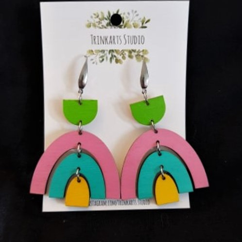 Trinkarts Studio - Rainbow Drop Hoops