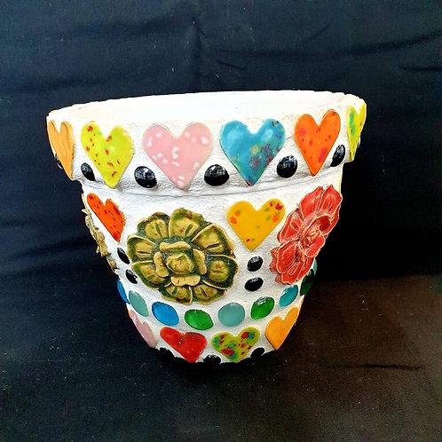 Handmade Mosaic Ceramic Plant Pot