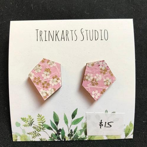 Trinkarts Studio Pink Blossom Studs