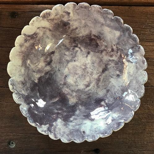 Mandy Lou Purple Scalloped Dish