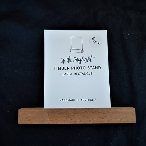 Timber Photo Stand
