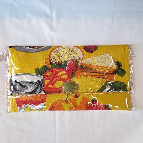 Vintage Design Clutch - Lemon Lunch