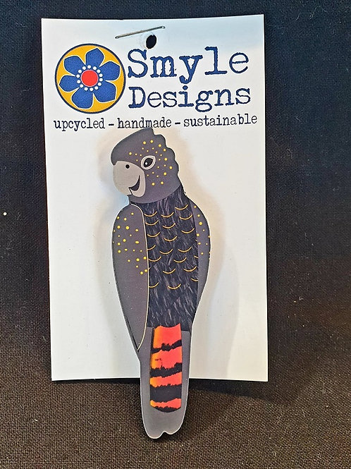 Smyle Designs - Black Cockatoo Brooch