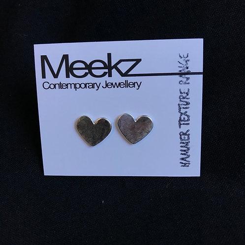 Meekz Jewellery- Sterling Silver Heart Studs