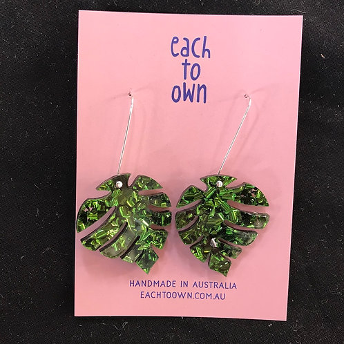 Each to Own Earrings - Large Leaf Drops