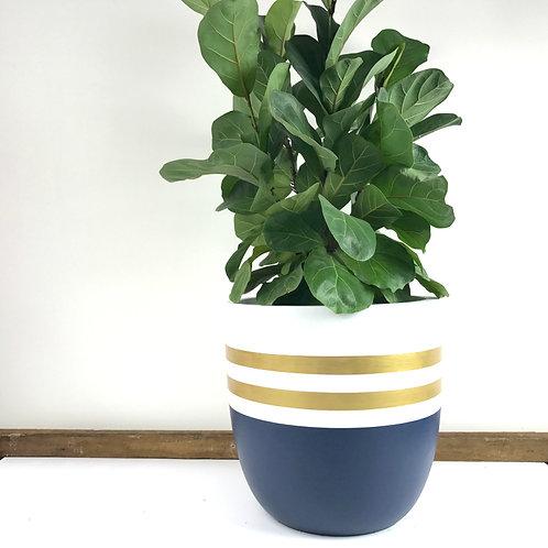 Indigo Earth Pot Reverse Sailor Design