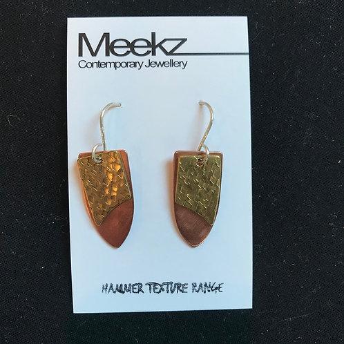 Meekz Jewellery- Double Drop Shield Earrings