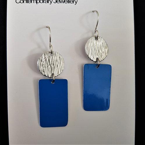 Meekz Jewellery - Circle and Rectangle Earrings