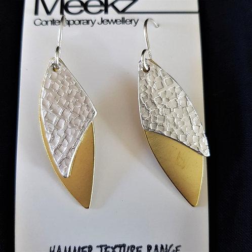 Meekz Jewellery - Silver and Brass Leaf Earrings