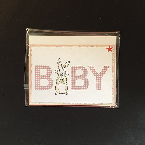 Baby Greeting Card Pink - Cabin Cards