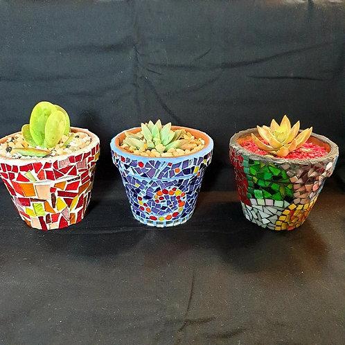 Mosaic Terracotta Pots