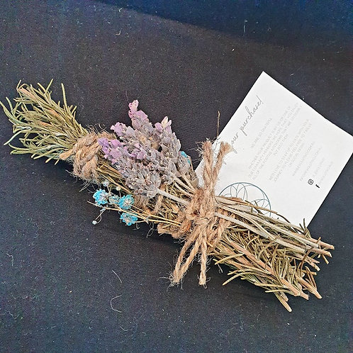Floral Smudge Stick - Lavender and Rosemary