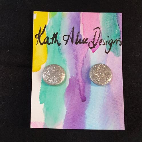 Kath Alice Designs - Metalic Sparkle Stud Earrings