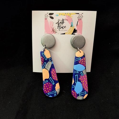 Kath Alice Designs - Multicoloured Drop Earrings
