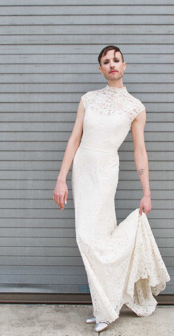 the cotton bride, wedding dress, bridal gown, simple, natural, cool, light, airy, vintage, destination, custom, plus-size, lace, sleeves, chinese collar, fitted, slim