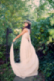 wedding dress, bridal gown, simple, natural, cool, cotton, vintage, destination, flowy, chiffon, one-shoulder, long train, light, airy