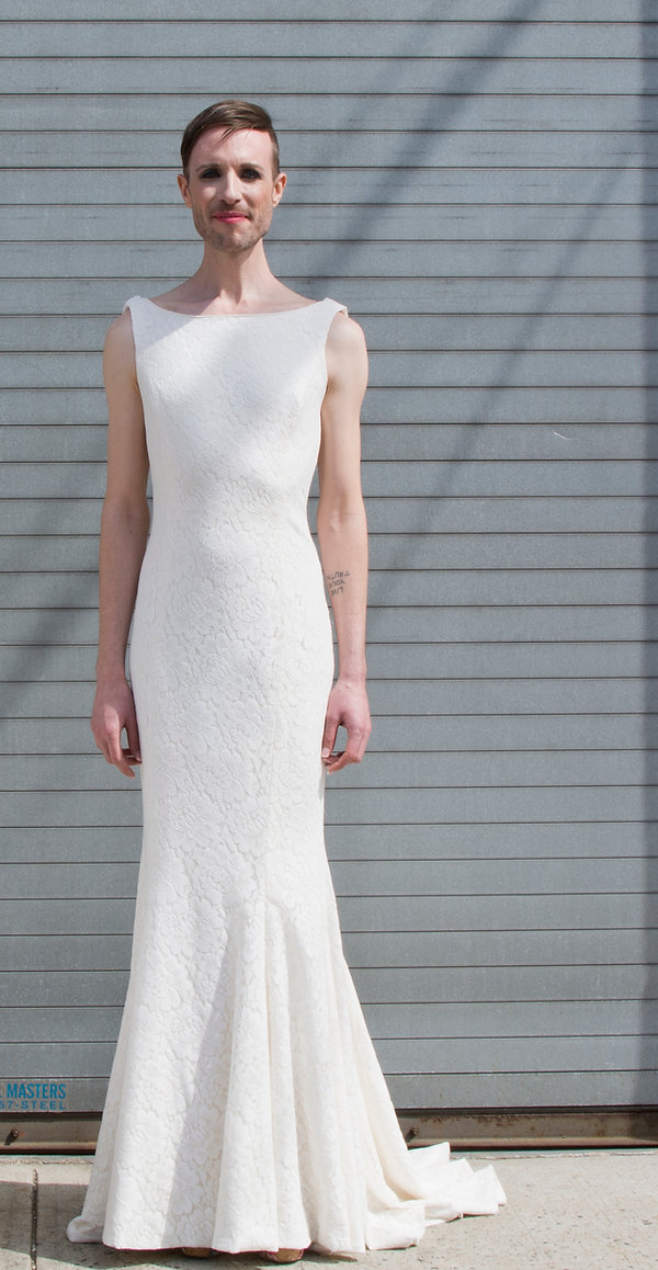 the cotton bride, wedding dress, bridal gown, simple, natural, cool, light, airy, vintage, destination, custom, plus-size, lace, sleeves, cowl back, straps, slim, fitted