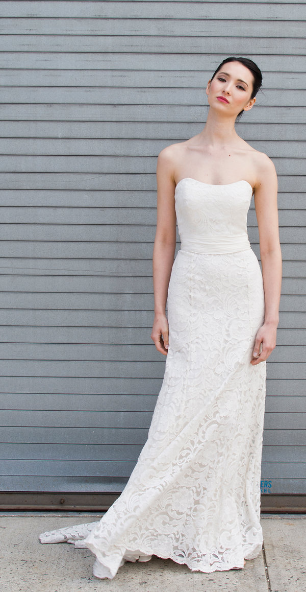 the cotton bride, wedding dress, bridal gown, simple, natural, cool, light, airy, vintage, destination, custom, plus-size, lace, strapless, fitted