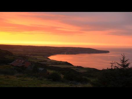 Robin Hood's Bay at sunset