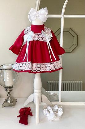 Cherry Double Bow Dress
