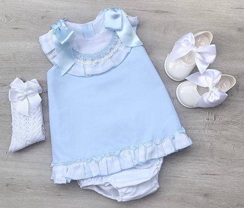 Double Ribbon Dress (Baby Blue)