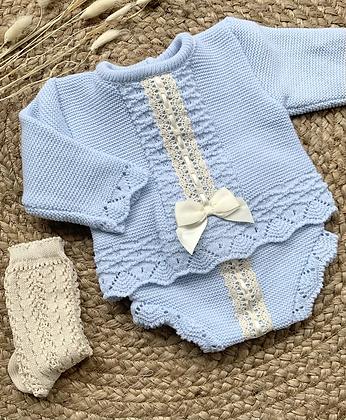 Harriet Bow Jam pant set - Blue